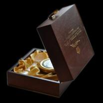 Подарочный деревянный бокс для банки 50 или 100 гр.